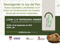 Jornada Difusión:  Desmigando la Ley del Pan en Avila el 19 de septiembre de 2019